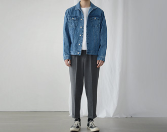 [Pati.] Semi-Over Denim Jacket